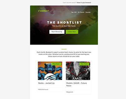 Beatport Newsletter Redesign