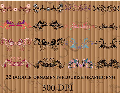 doodle ornamental sublimation