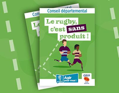 """Livret prévention """"Le rugby c'est sans produit !"""""""