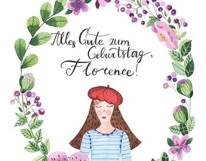 Greeting cards for birthday | Alles Gute zum Geburtstag