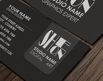 Black Business Card 3D