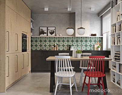 Different versions of a kitchen