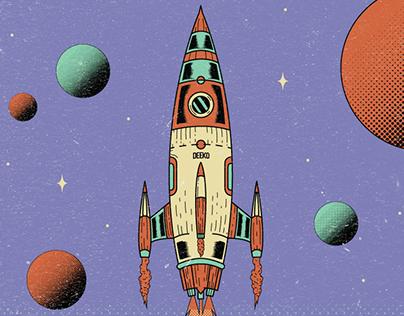 Explore_T-shirts/Poster illustration for Deeko