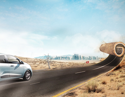 Hyundai Grand i10 Automotive Photomanipulation