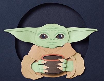 Baby Yoda | Paper art