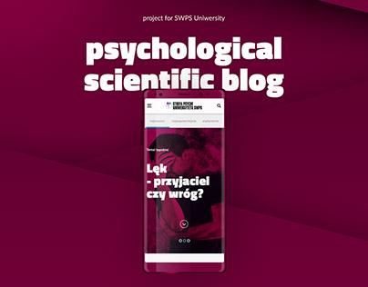 Scientific blog