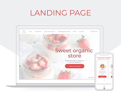 Desserts store landing page design