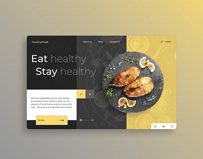 Вдохновение Веб-дизайн о здоровом питании
