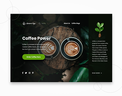 Coffee Power Landing Page