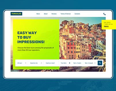 Tursales, web-site design