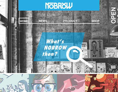 NOBROW web site project