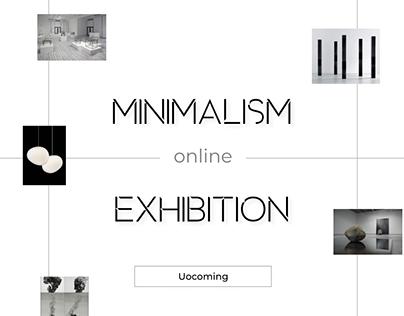 Макет сайта онлайн-выставки в стиле минимализма
