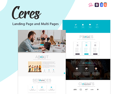 Ceres - Landing Page MultiPurpose