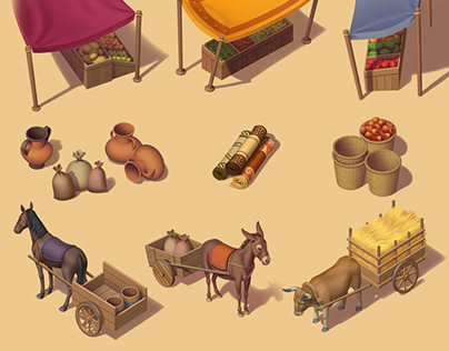 Game backgrounds, props & characters | Caesars Slots