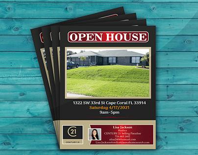 Open House Flyer Design