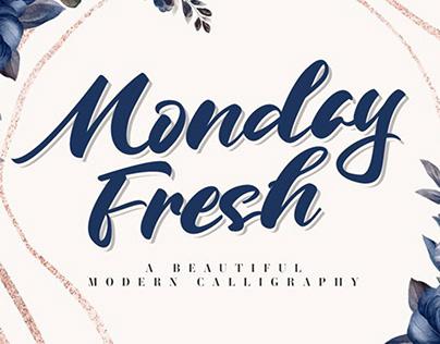 FREE   Monday Fresh Modern Calligraphy Font