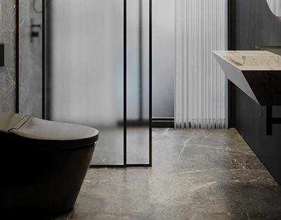 TINY CONTEMPORARY BATHROOM