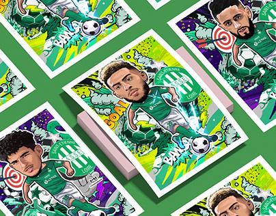 AS Saint Etienne players - illustrations