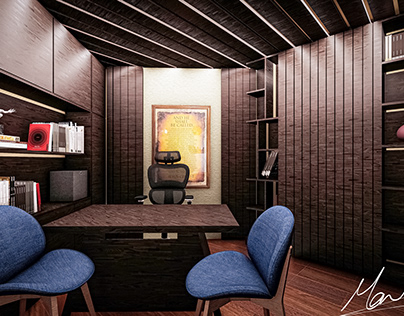wooden office