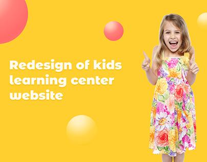 """Redesign of kids learning center """"Shazhochki"""" website"""