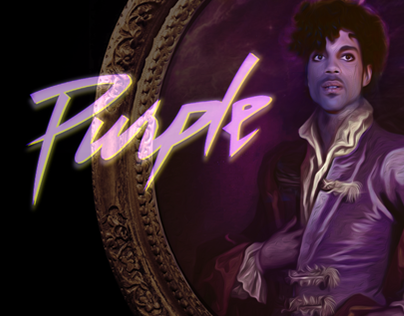 """Purple Pain"", PRINCE vinyl poster 31.43 cm square"