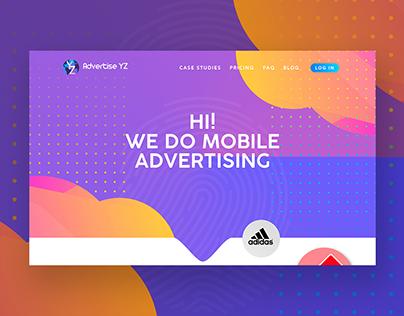 Advertise YZ Web UI Design