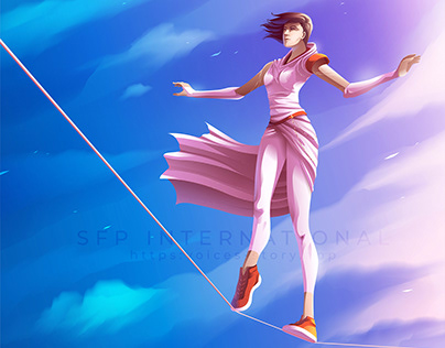 Vector Illustration, Tightrope Walker