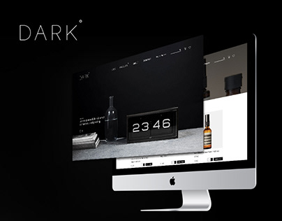 Dark Ecommerce Website Design