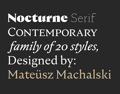 Nocturne Serif Family