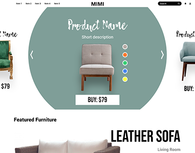 Minimalist furniture webshop