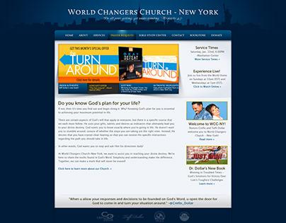 WCCI-NY Website Mockup