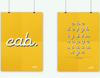 Cab Script Typeface