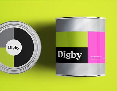 Digby Paints Brand Identity and Packaging
