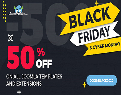 Black Friday sale on Joomla templates and extensions
