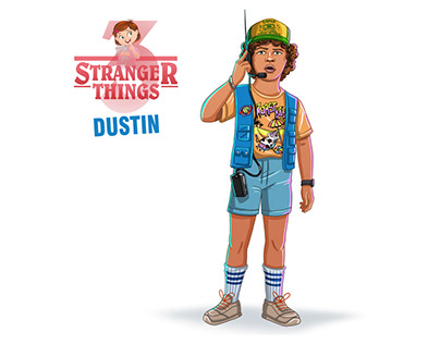 How to draw Dustin Harrison | Stranger things 3