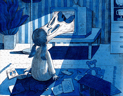 """""""Into The Screen"""" illustrations."""