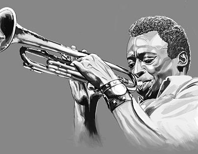 Miles Davis Illustration