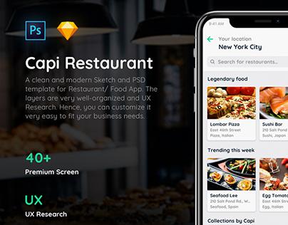 Free Capi Restaurant iOS UI Kit