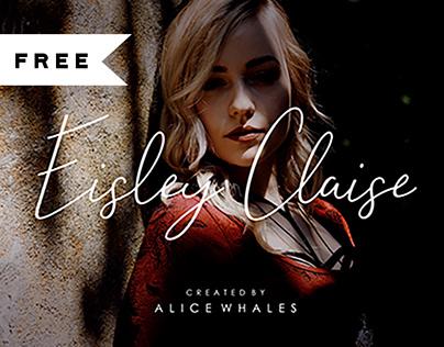 FREE   Eisley Claise - Handwriting Font