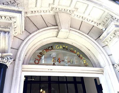 Gilded House Numerals - Regents Park, London