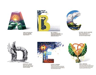 Alphabet of great artists