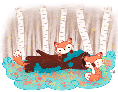Three little foxes