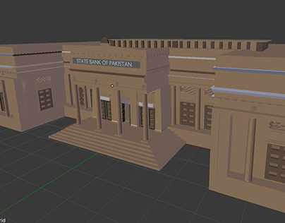 State Bank of Pakistan-3D Model (WIP)