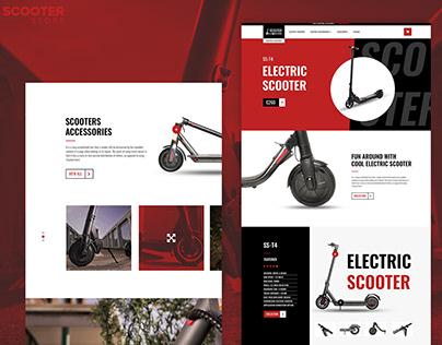 Website Design For Electric Scooter