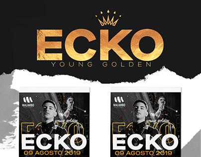 DESIGN FLYERS & TICKETS - EVENT ECKO 2019