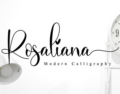 Rosaliana // Lovely Script Font