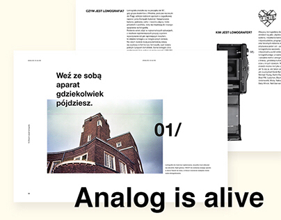 Analog is alive - publication about analog photography