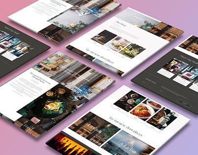 Cafe website design + Development