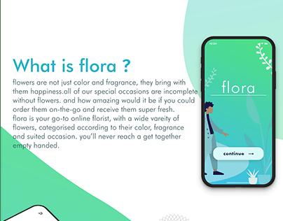 flora - the online florist // logo and UI