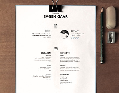 Laconique Resume Template